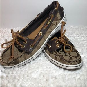 NEW ~ Coach Signature ~ Size 7.5 ~ Boat Shoes